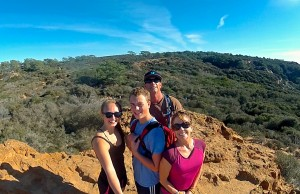 My family hiking at Torrey Pines